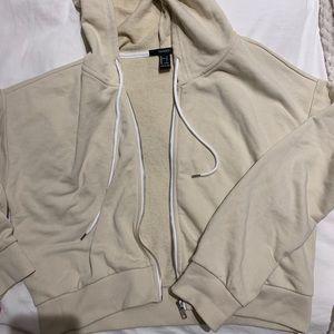cropped zip up hoodie